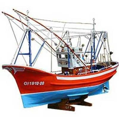 Barco maqueta merlucera