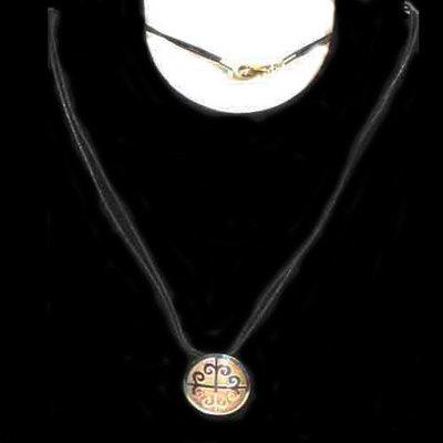 Gargantillas plata con cordon motivos celtas