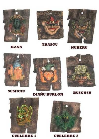 Cortezas mitologia asturiana pequeñas