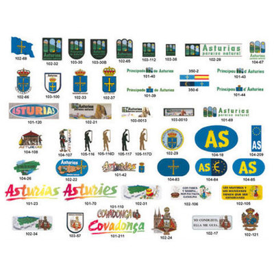 Pegatinas motivos asturianos