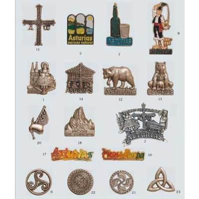 Imanes metal motivos asturianos