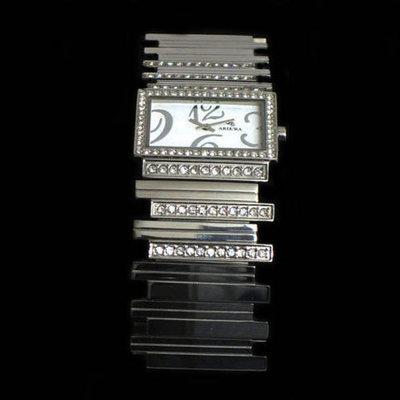 Reloj con circonitas -pulsera acero