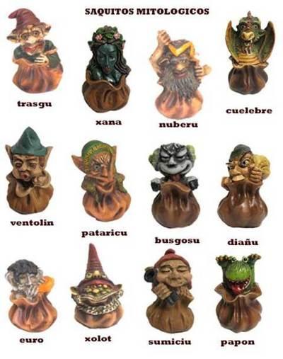Saquitos personajes mitologia asturiana