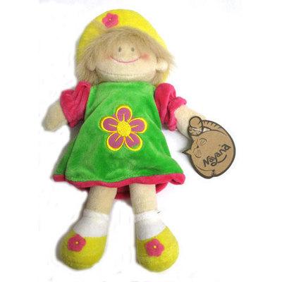 Muñeca flor infantil  -vestido verde