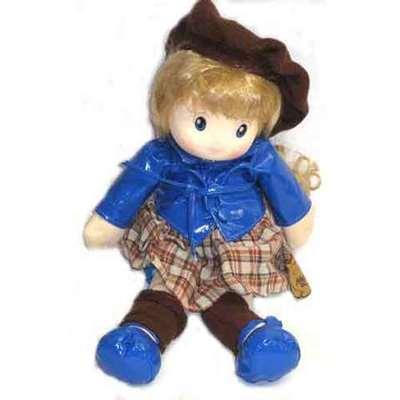 Muñeca boina musical - vestido azul oscuro