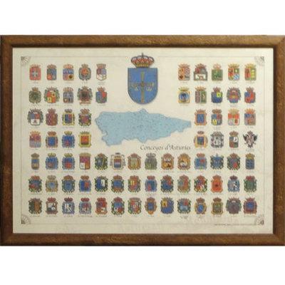 Cuadro escudo de los concejos asturianos