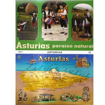 Tira de 10 postales de Asturias