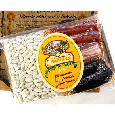 Fabada asturiana y preparado de fabada