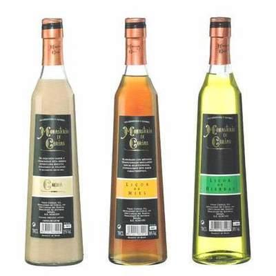 Licores asturianos botella conica 70 cl.