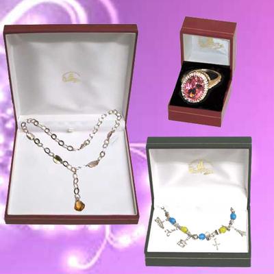 Gargantilla, pulsera  y anillos plata con circonitas