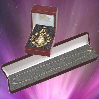 Medalla orla Virgen de Covadonga con cadena oro