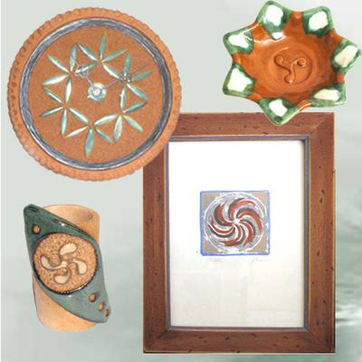 Cuadro motivo celta, Reloj colgar, Portalapices y cenicero motivos celtas