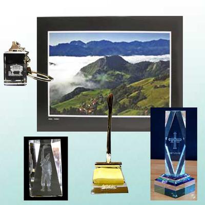 Fotografia original, Portanotas, Monolito, figura y llavero de cristal