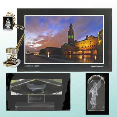 Fotografia original, Portalapices, Monolito, Figura y Llavero cristal laser
