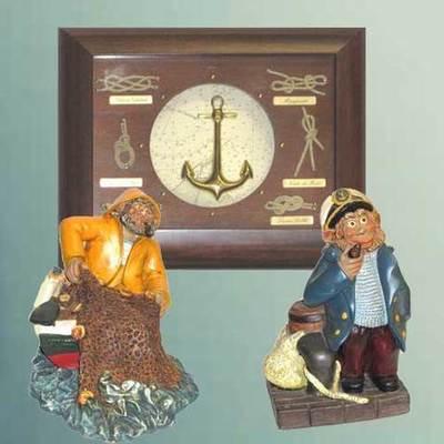 Cuadro nudos marinero y figuras marineros