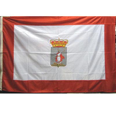 Bandera oficial Gijon (escudo bordado)