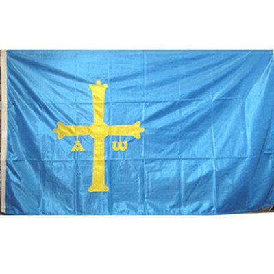 Bandera oficial Asturias (cruz bordada)