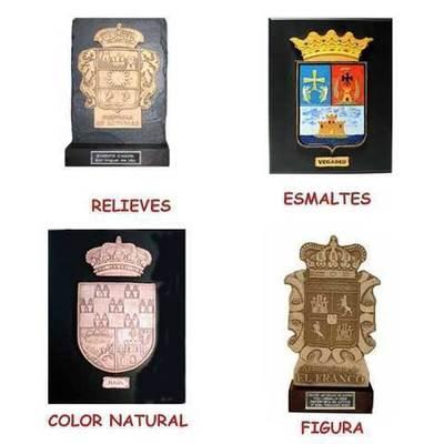 Placas escudos concejos asturianos