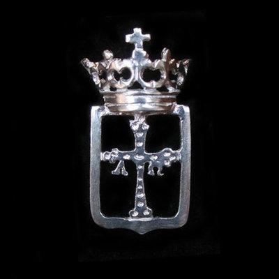 Pins plata escudos de Asturias