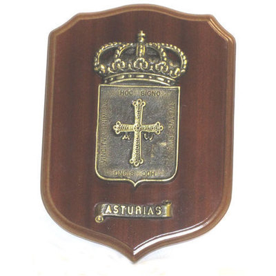 Escudo de Asturias bronce macizo