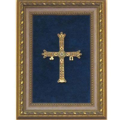 Cruz de la victoria -ceramica policromada
