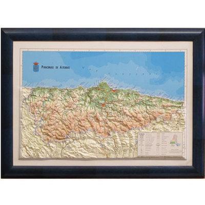 Mapa de Asturias relieve