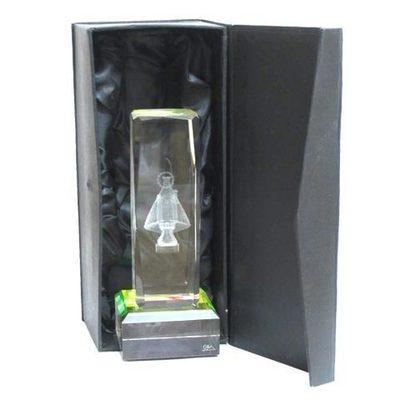 Monolito cristal Virgen de Covadonga