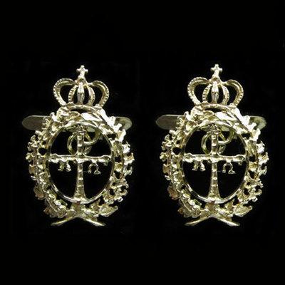 Gemelos oro escudo de asturias laureado