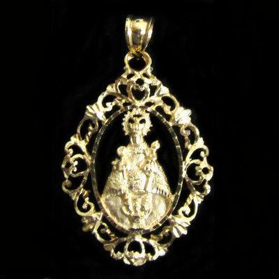 Medalla oro Virgen de Covadonga orla