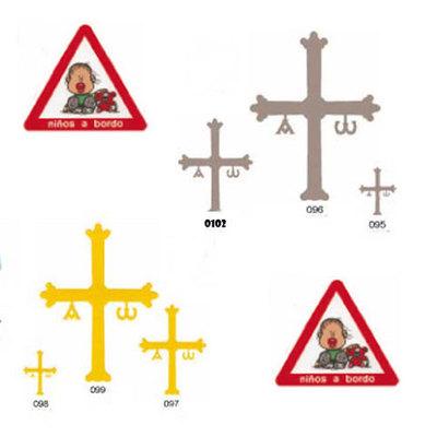 Pegatinas Cruz de la victoria