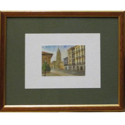 Acuarela Catedral de Oviedo