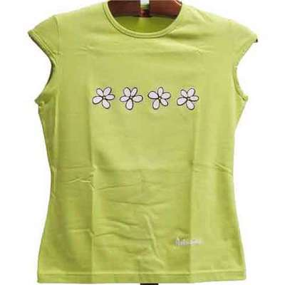 Top ajustable flores - pistacho