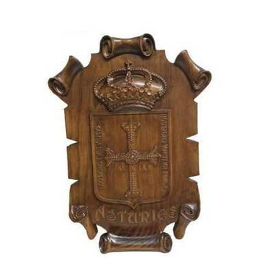 Escudo de Asturias pergamina mediano