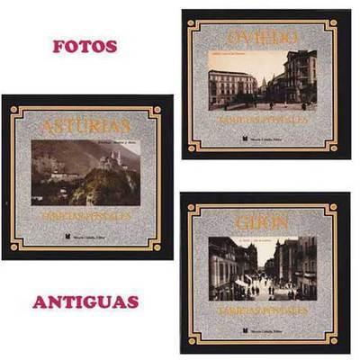 Paquete 3 libros de fotos antiguas Asturias, Oviedo y Gijón