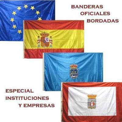Banderas oficiales bordadas