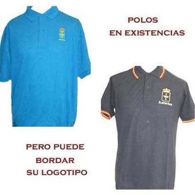 Polos motivos bordados Escudo de Asturias