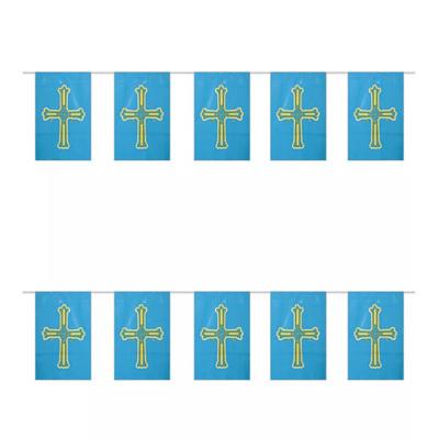 Tira de banderas de Asturias - 50 metros de longitud