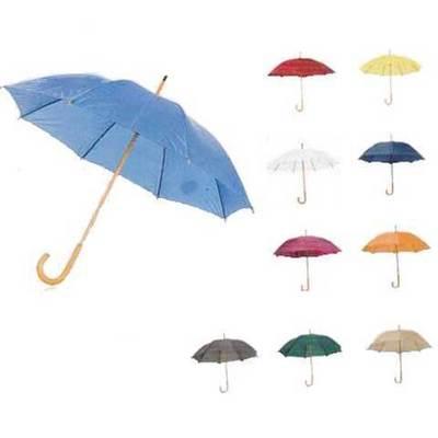Paraguas mango de madera para imprimir serigrafia