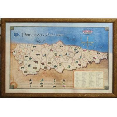 Cuadro Mapa concejos asturianos - historia