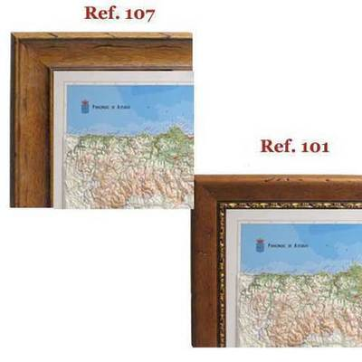 Enmarcacion Mapa de asturias relieve