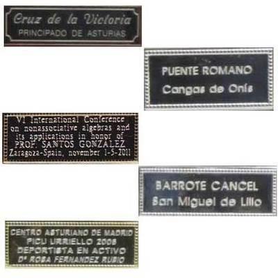 Placas metalicas para personalizar