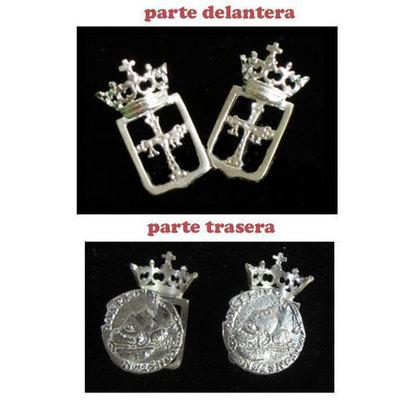 Gemelos escudo de Asturias
