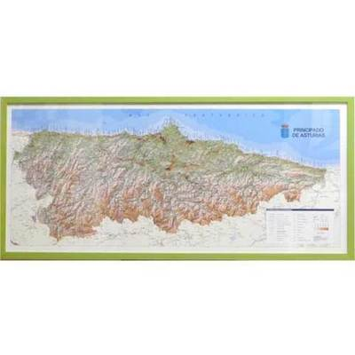 Mapa topográfico Asturias