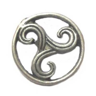 Pin Trisquel plateado