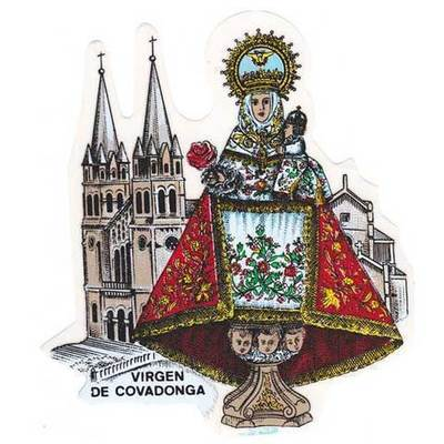 Pegatina Virgen de Covadonga con basilica