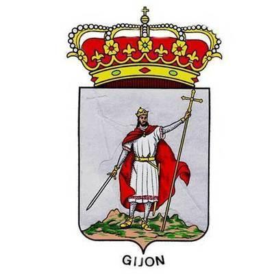 Pegatina Escudo de Gijon