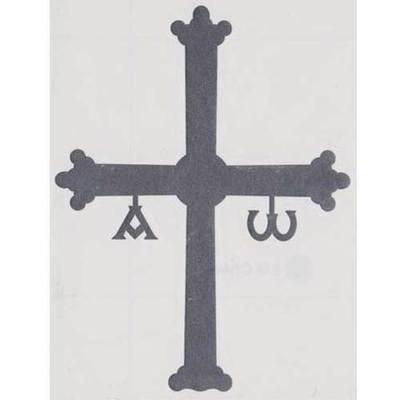 Pegatina Cruz de la Victoria gris oscuro mediana
