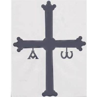 Pegatina Cruz de la Victoria gris oscuro grande