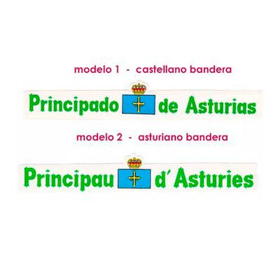 Pegatina Letras principado de Asturias - bandera
