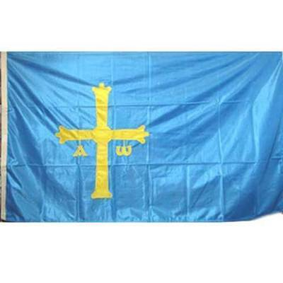 Bandera Asturias cruz bordada - oficial